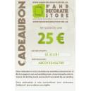 Cadeaubon 25 €