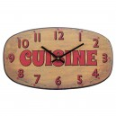 Vintage klok cuisine geel