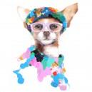 Schilderij Dog Glasses