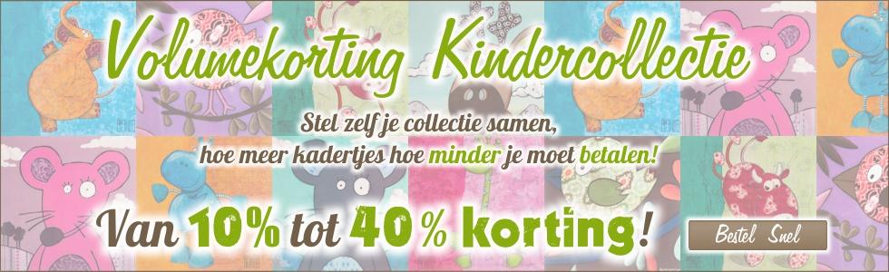 Volumekorting op de hele kindercollectie, meer kopen minder betalen!